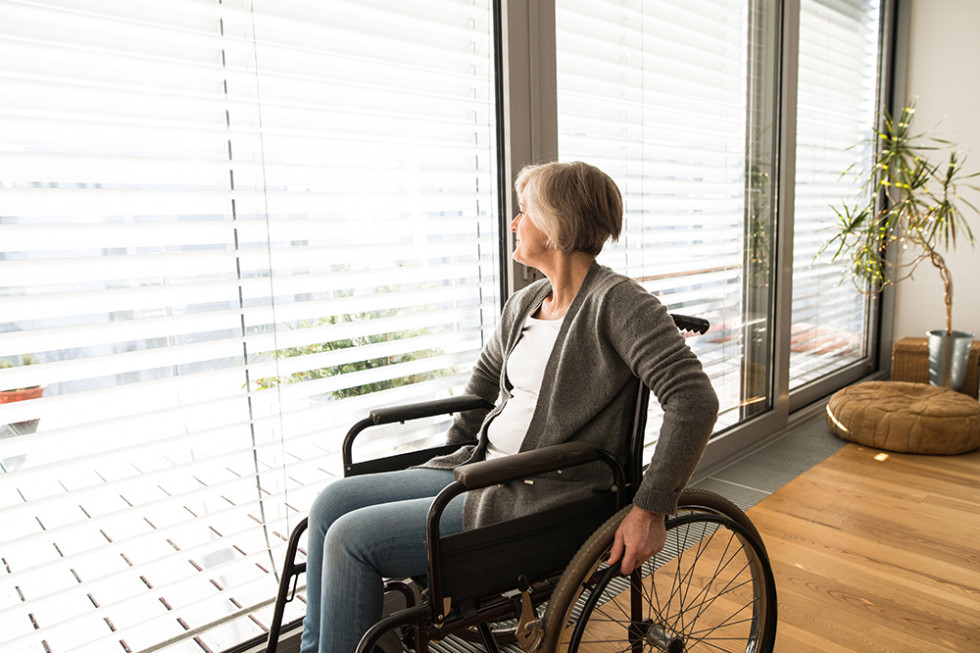 Disabled woman home