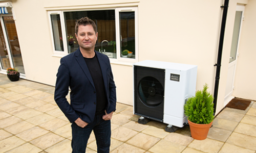 George Clarke with Ecodan 3