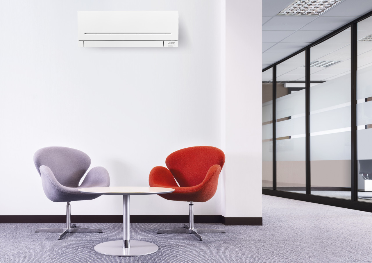 Mitsubishi Electric Air Conditioning Wall Mounted in Lobby 1