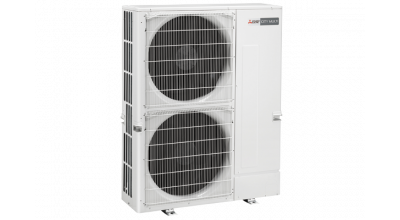 Outdoor Ecodan heat pump, 2 levels