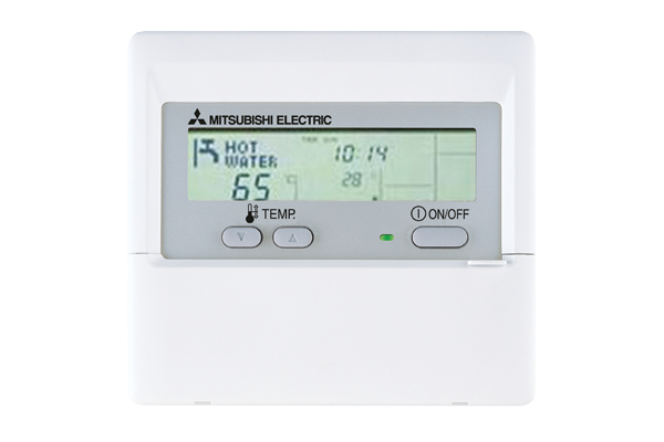 Simple control with clear display and hot water meter