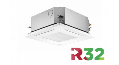 A/C unit for ceiling suspension with R32 technology