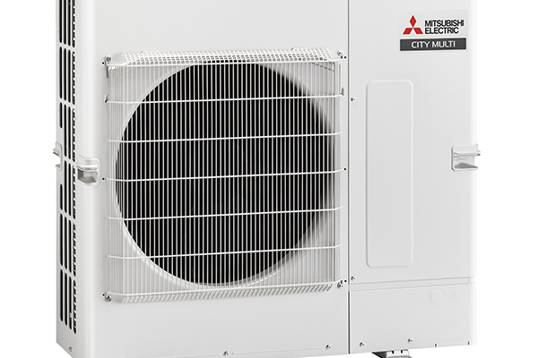 Single fan heat pump in white