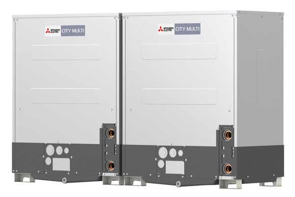 Dual water cooled heating units with low carbon footprint