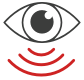 Eye and sensor icon