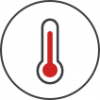 Thermometer icon for temperature